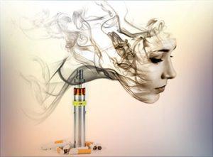 women smoking facilitating change post