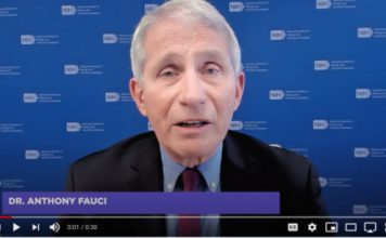 Dr. Anthony Fauci Speaking on Video