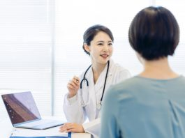Young,Female,Medical,Doctor,And,Patient,In,The,Hospital.,Medical