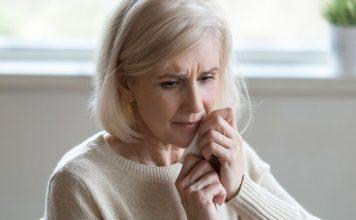Older woman in distress